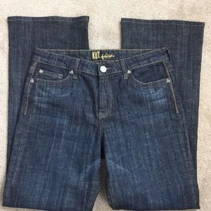 Kit from the Kloth dark bootcut jeans-10